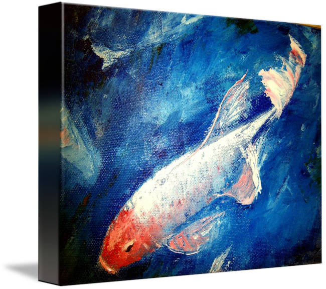 Acrylic drawing fish. Koi palette by mazz
