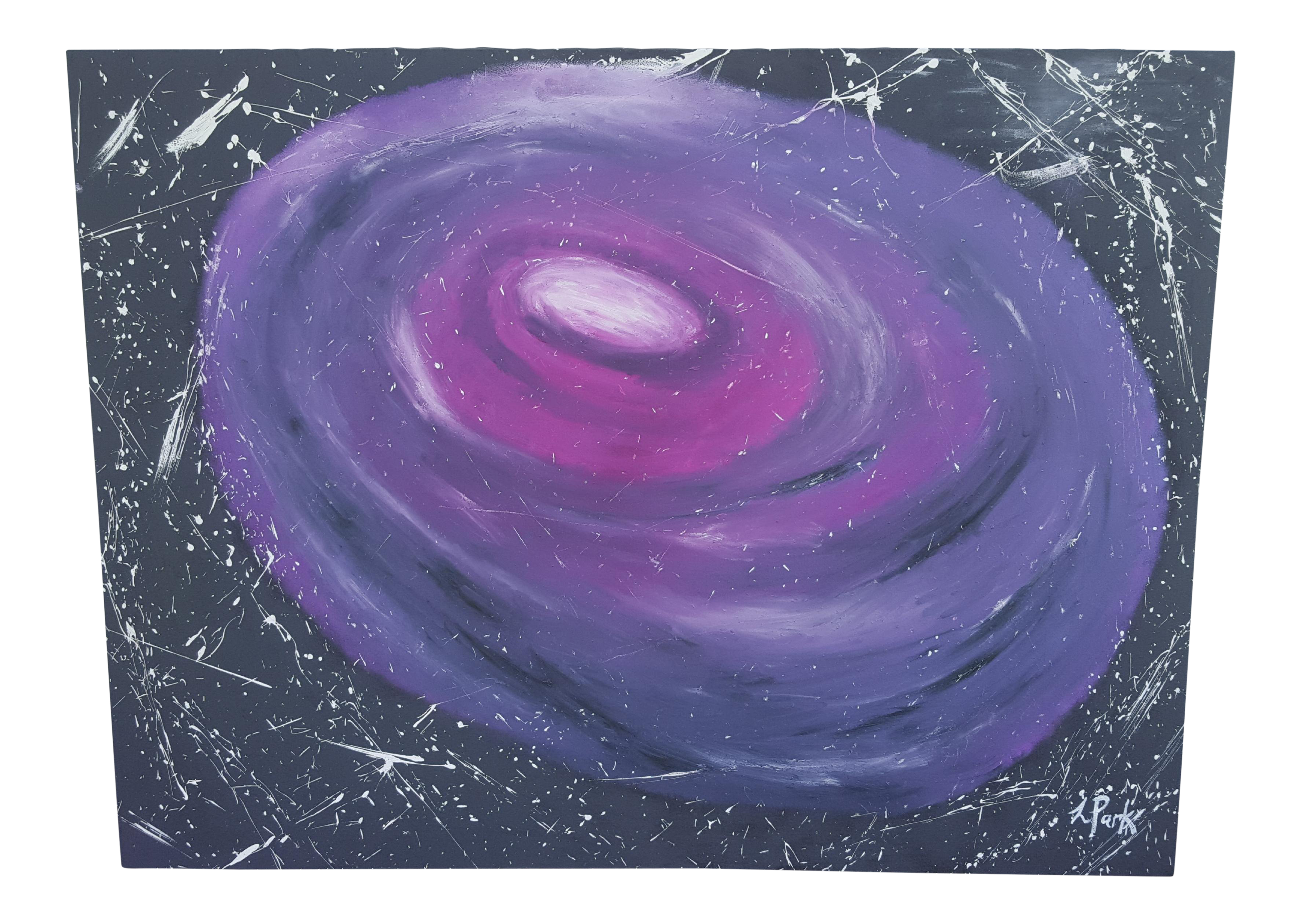 Acrylic drawing galaxy. Extra large original abstract