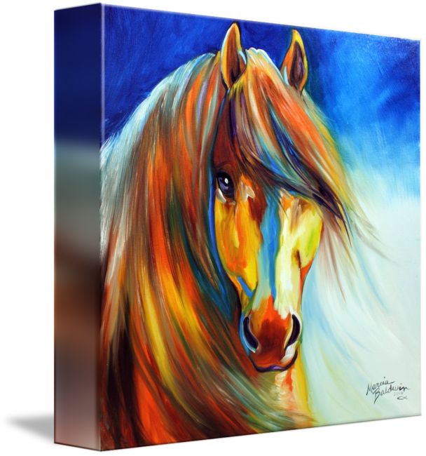 Acrylic drawing gypsy. Golden vanner by marcia