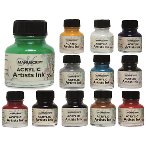 Acrylic drawing ink. Manuscript artists calligraphy ml