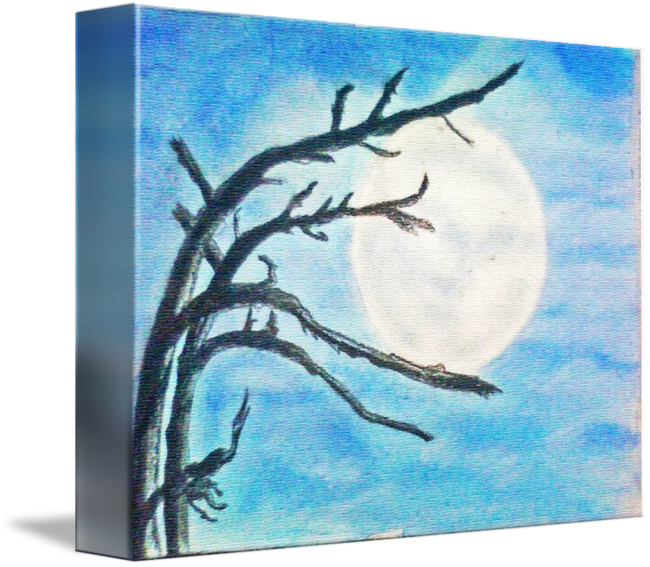 Acrylic drawing moon. Full day by jayant