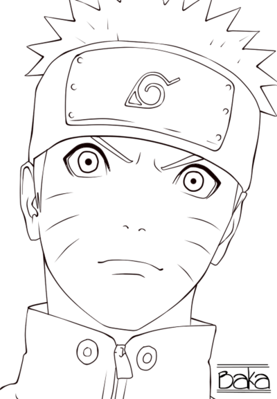 Acrylic drawing naruto. The last lineart by