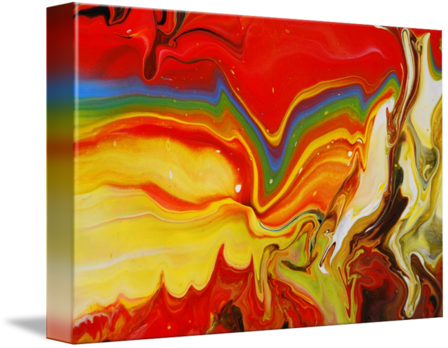 Acrylic drawing rainbow. Abstract fluid painting by