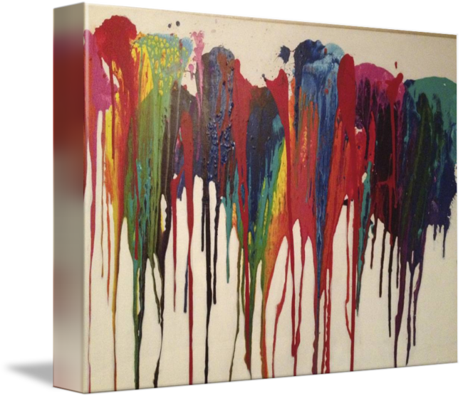 Acrylic drawing space. Colorful drip painting by