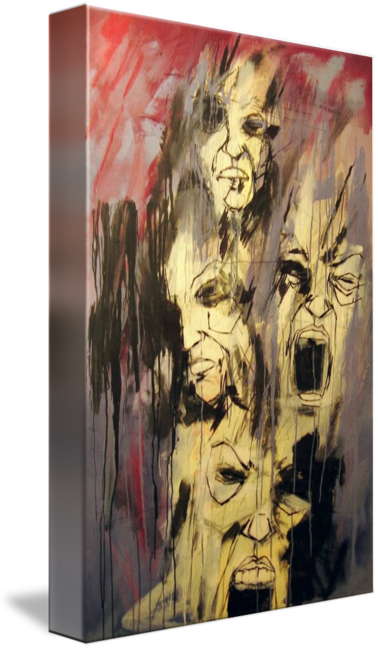 Acrylic drawing space. Anger frustration by dave