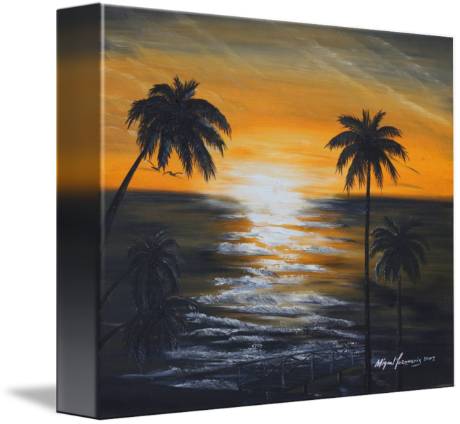 Drawing sunset abstract. Puerto rico by miguel