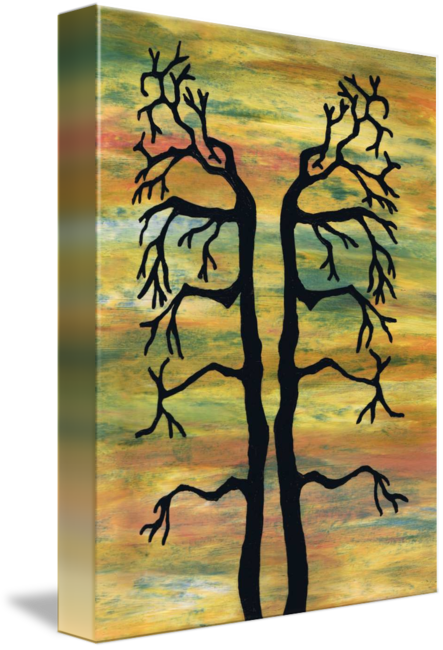 Acrylic drawing tree. Balanced trees by heather