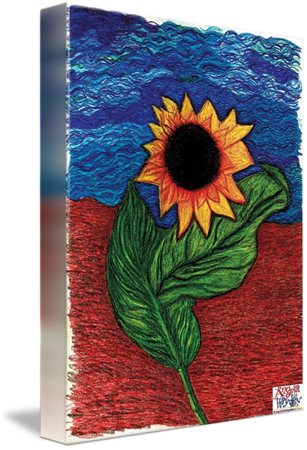 Acrylic drawing trippy. Sunflower painting by angela