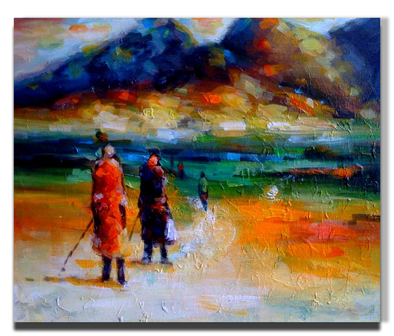 Acrylic drawing unknown. The long way home