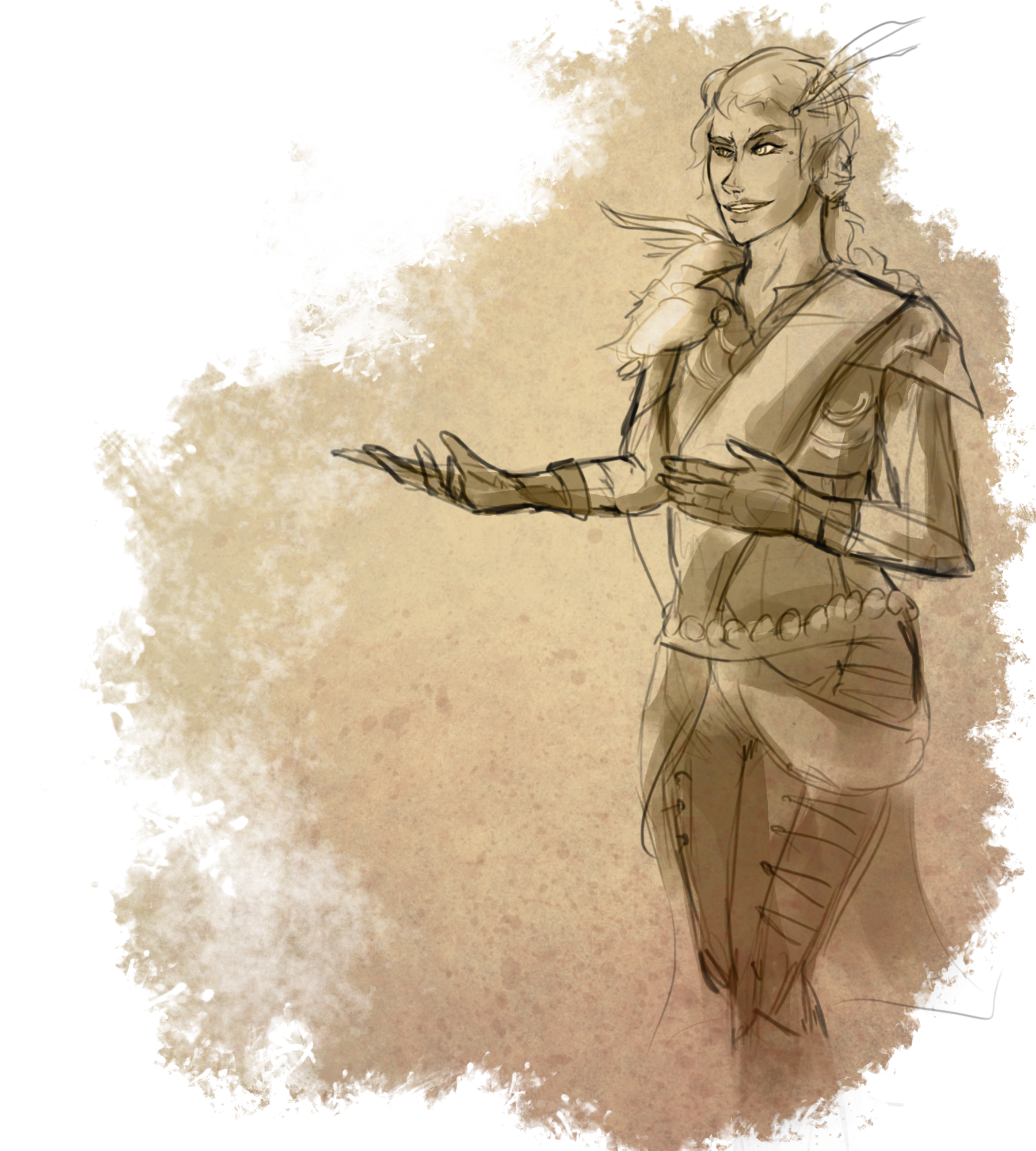Act drawing woman. Eberron ch political theatre