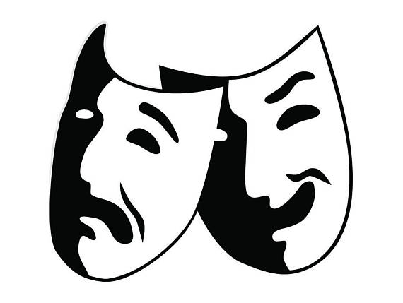 Actor clipart greek mask. Theater acting actress performance