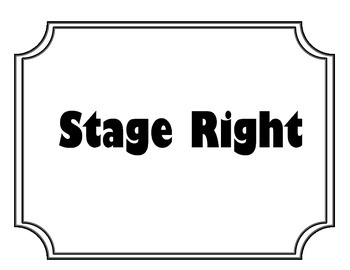 Acting clipart stage direction. Directions teaching resources teachers