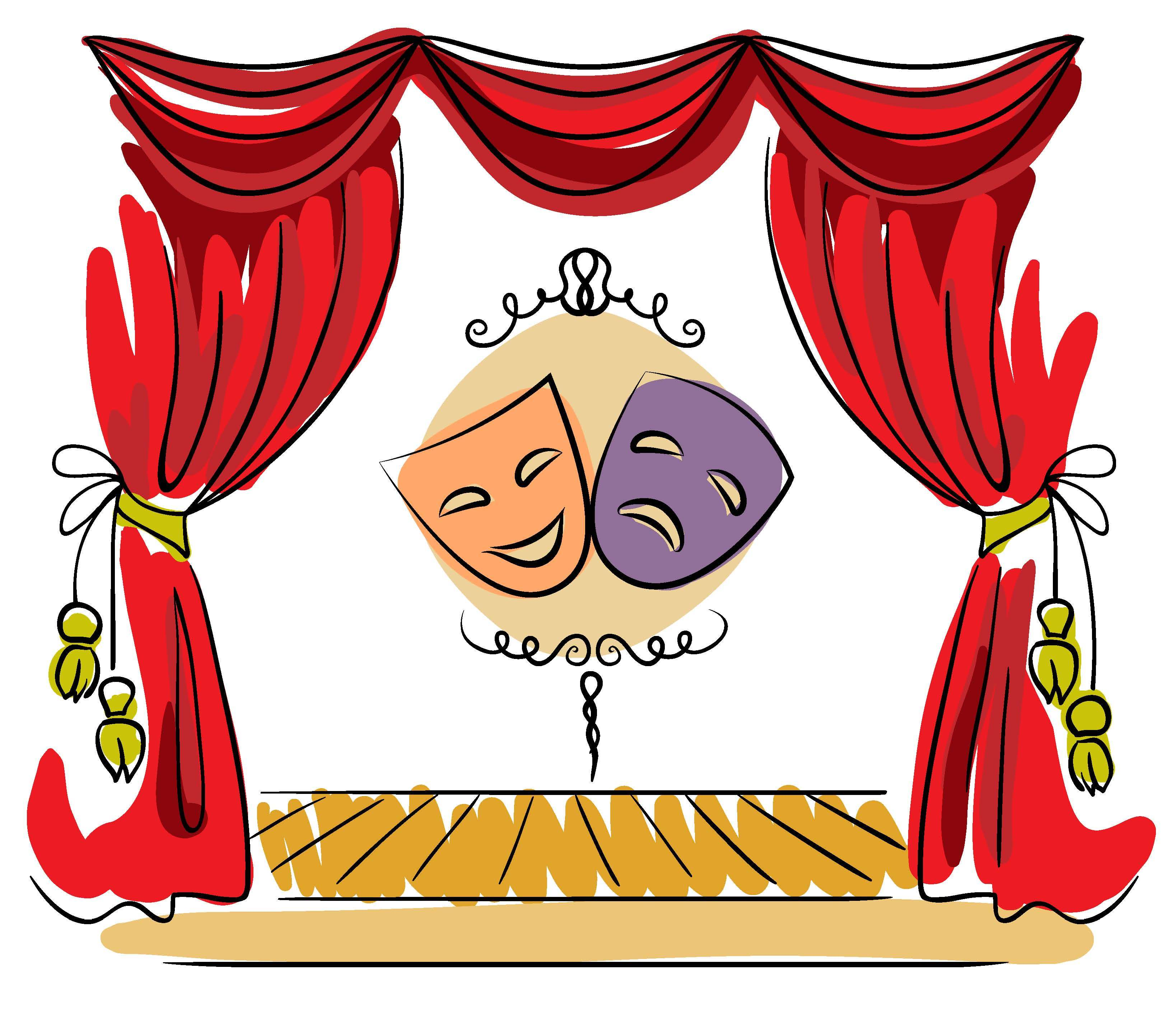 Acting clipart theatre director. Theater company gives blind