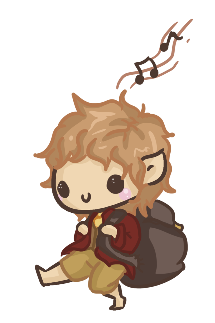 Acting drawing chibi. Bilbo by tolkien ijen