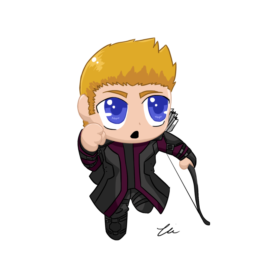 Acting drawing chibi. Hawkeye aou by nickyparsonavenger