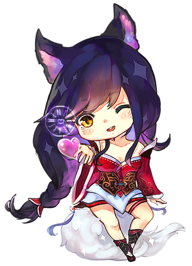 Acting drawing chibi. Ahri by littlewinterheart lolis