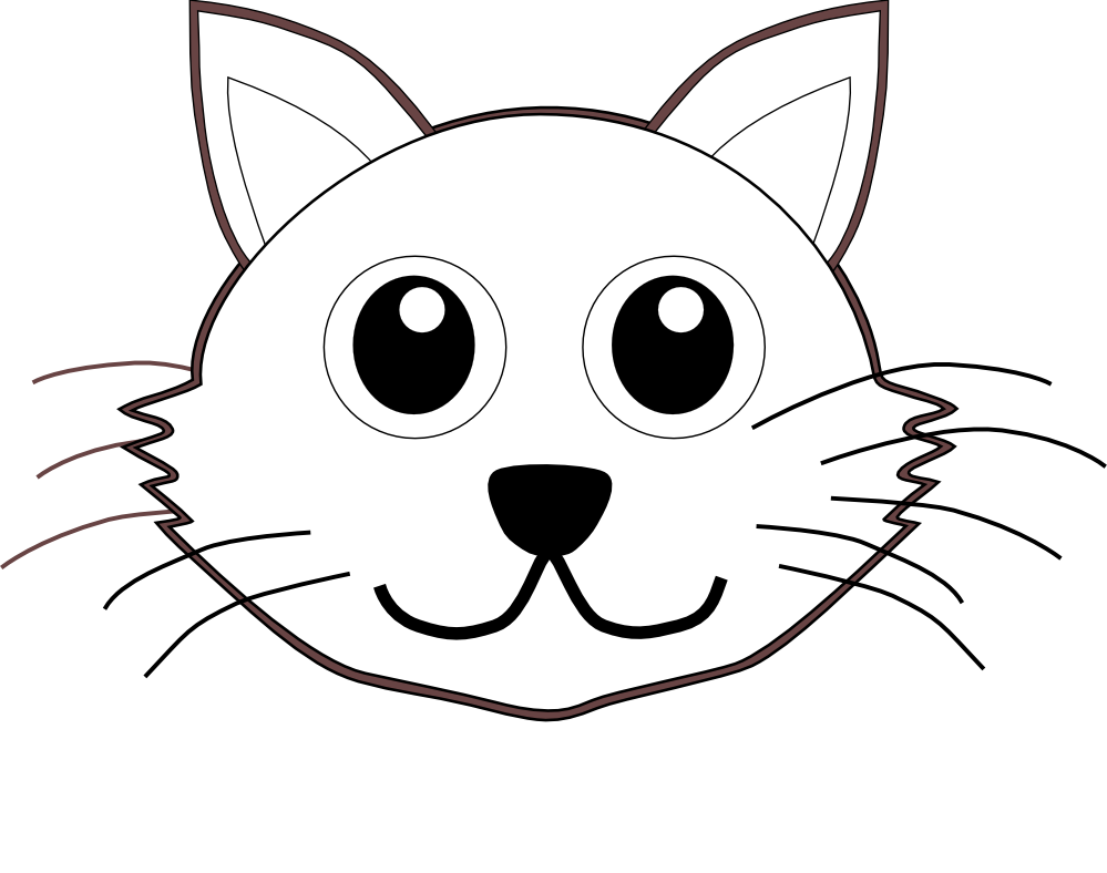 draw cartoon face. Numbers drawing cat graphic transparent download