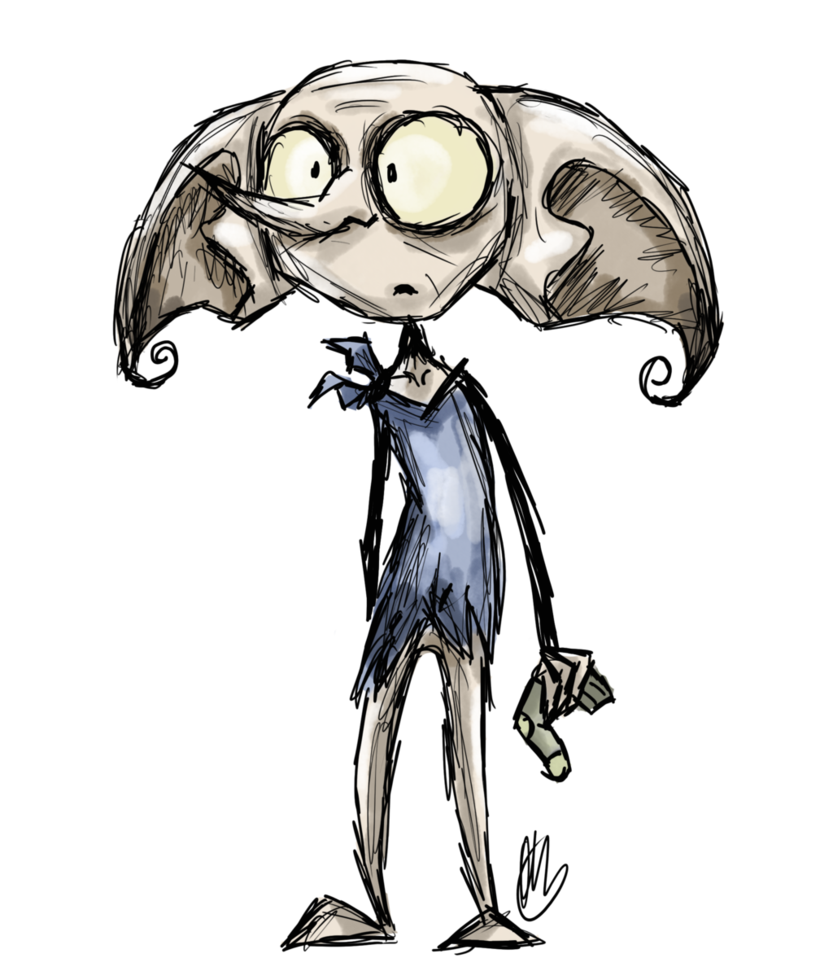 Acting drawing dobby. Is a free elf