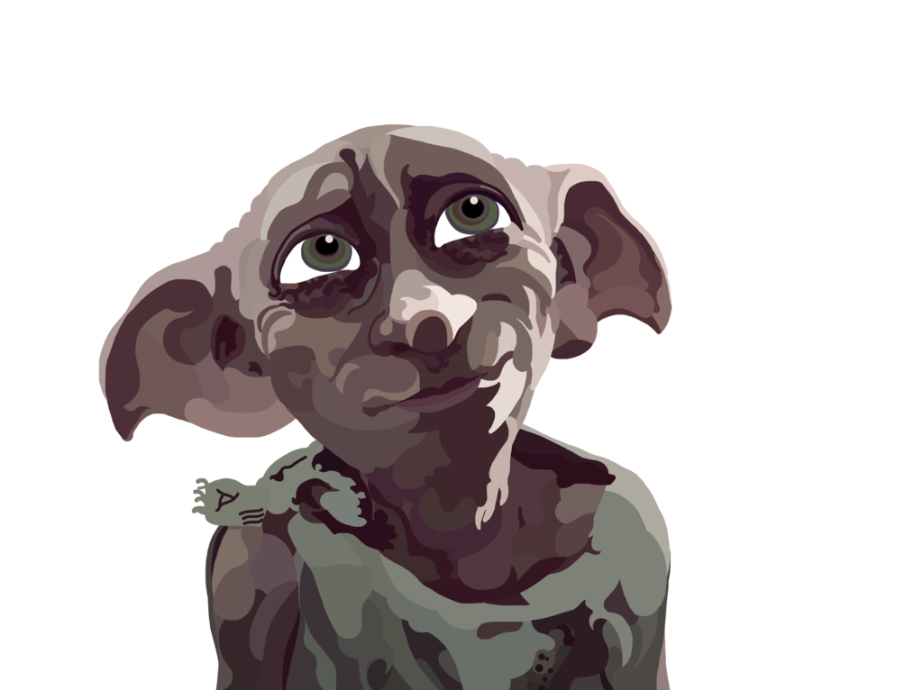 Acting drawing dobby. The house elf digital