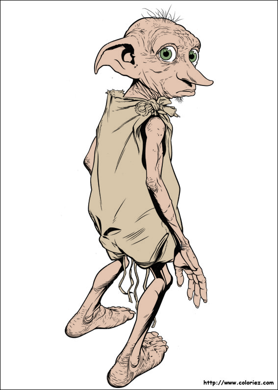 Acting drawing dobby. From harry potter by