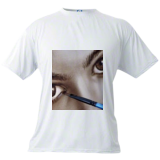 Acting drawing dry brush. Photorealism portrait painting from