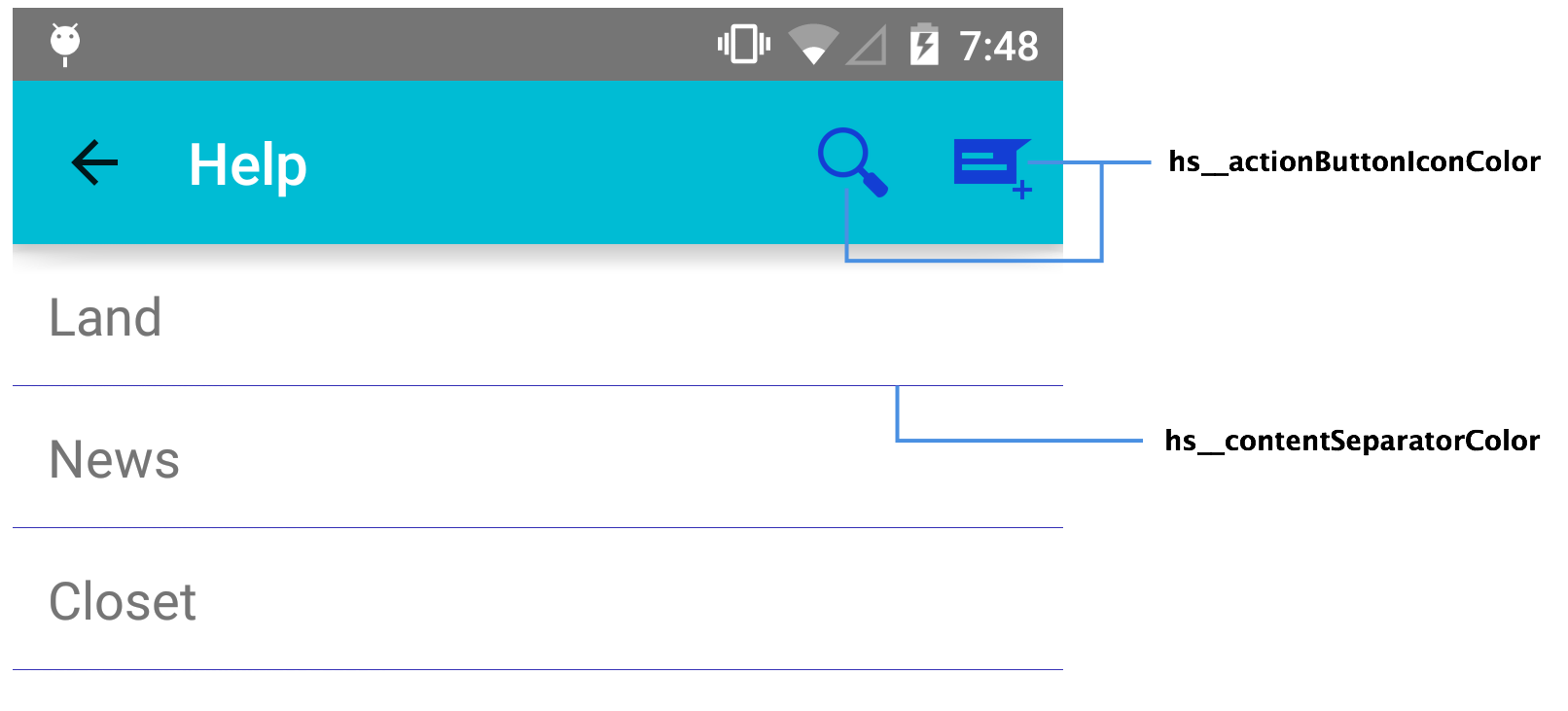 Action bar png. Theming and skinning actionbariconspng