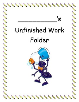Writer clipart unfinished work. Folder cover by lisa