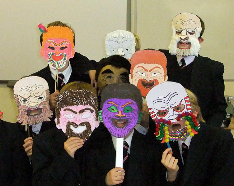 Actor clipart greek mask. Drama masks teaching ideas