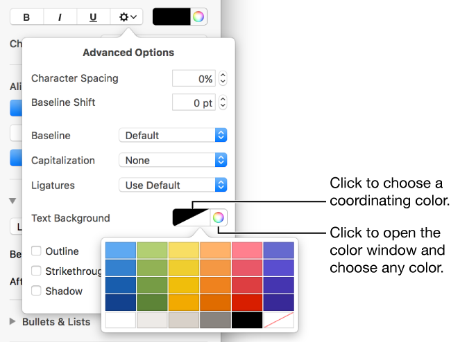 Add background color to png. Pages text for mac