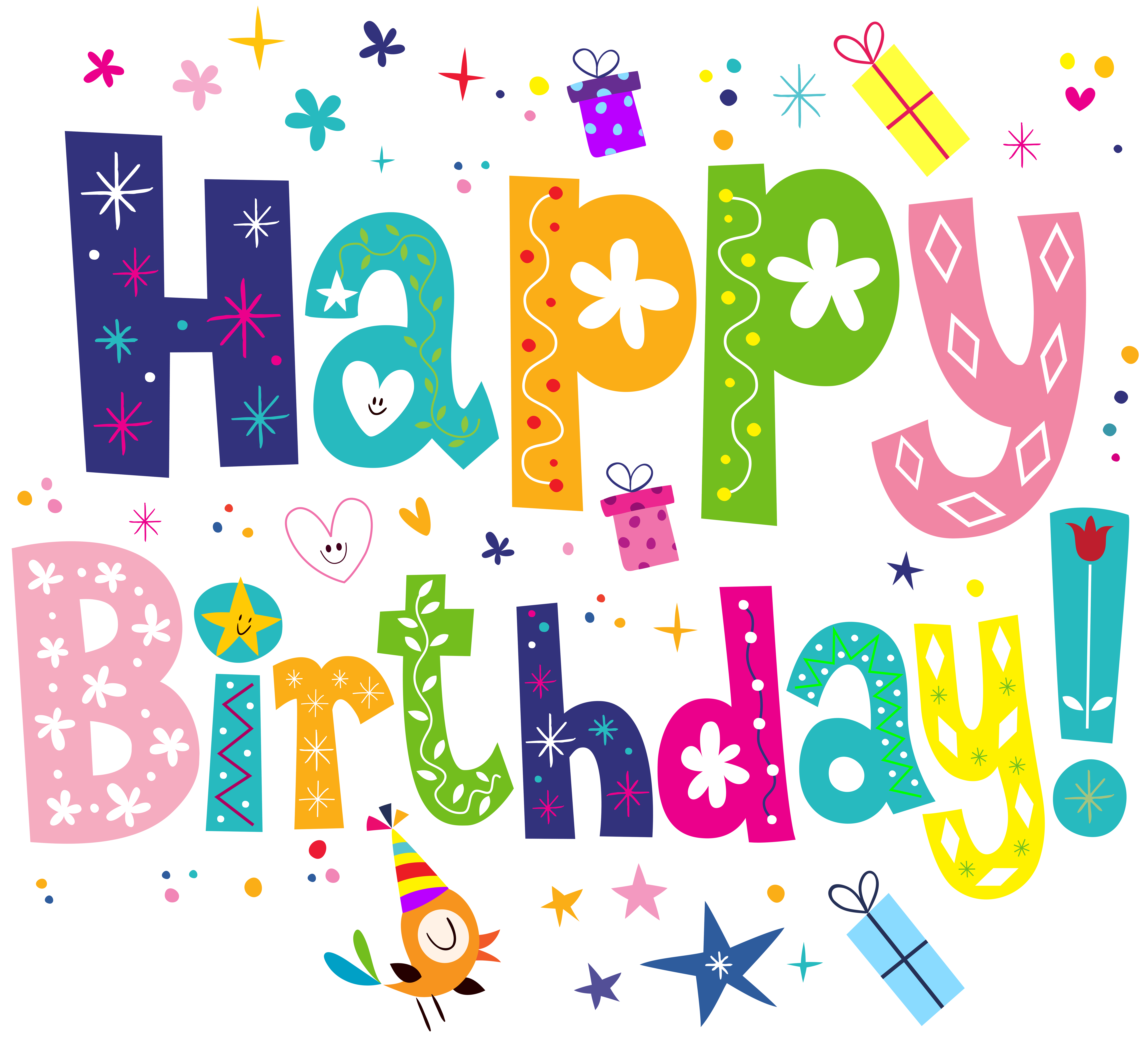 Cute clip art image. Happy birthday png transparent background freeuse