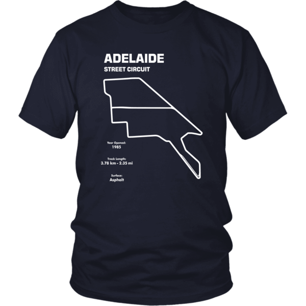 Adelaide street circuit png. Track outline series t