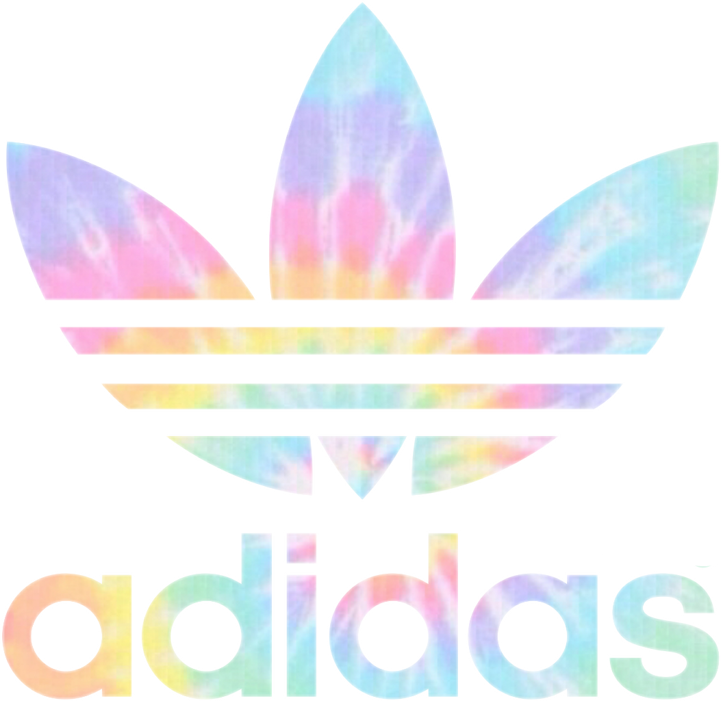 Adidas sign png. Tumblr tiedye sticker rainbow