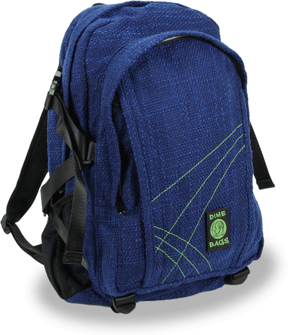Adjustable clip backpack. Dime bags