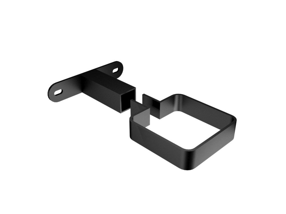 Adjustable clip pipe. Mm square stand