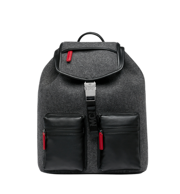 Adjustable clip rucksack strap. Men s leather backpacks