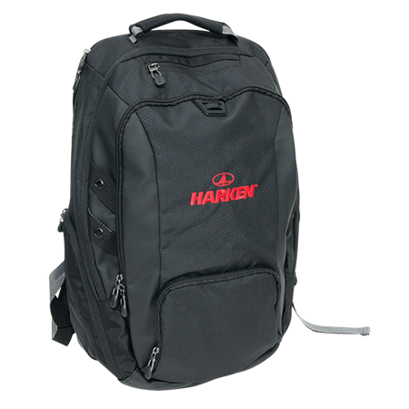 Adjustable clip rucksack strap. Harken sailboat hardware and