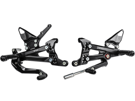 Adjustable clip speedymoto. Bonamici billet rearsets ducati