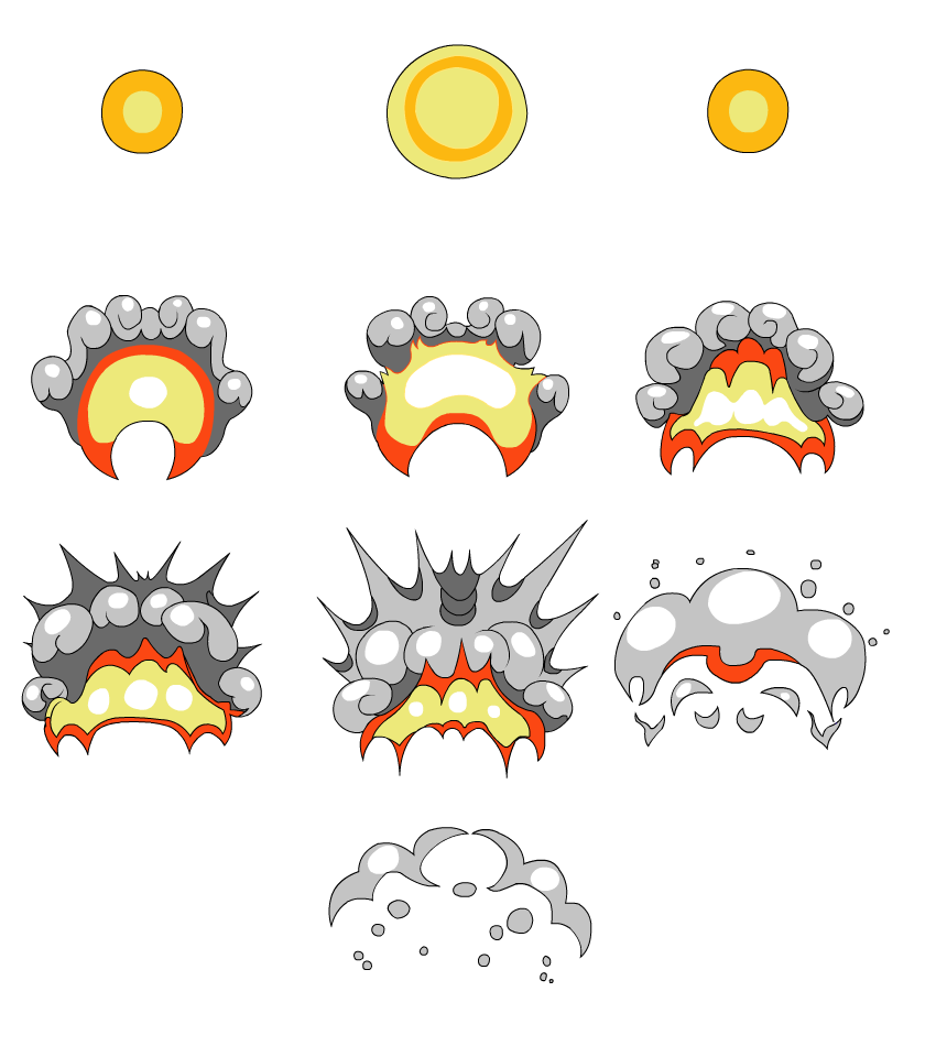 Explosion sprite sheet png. Animate a cartoon with