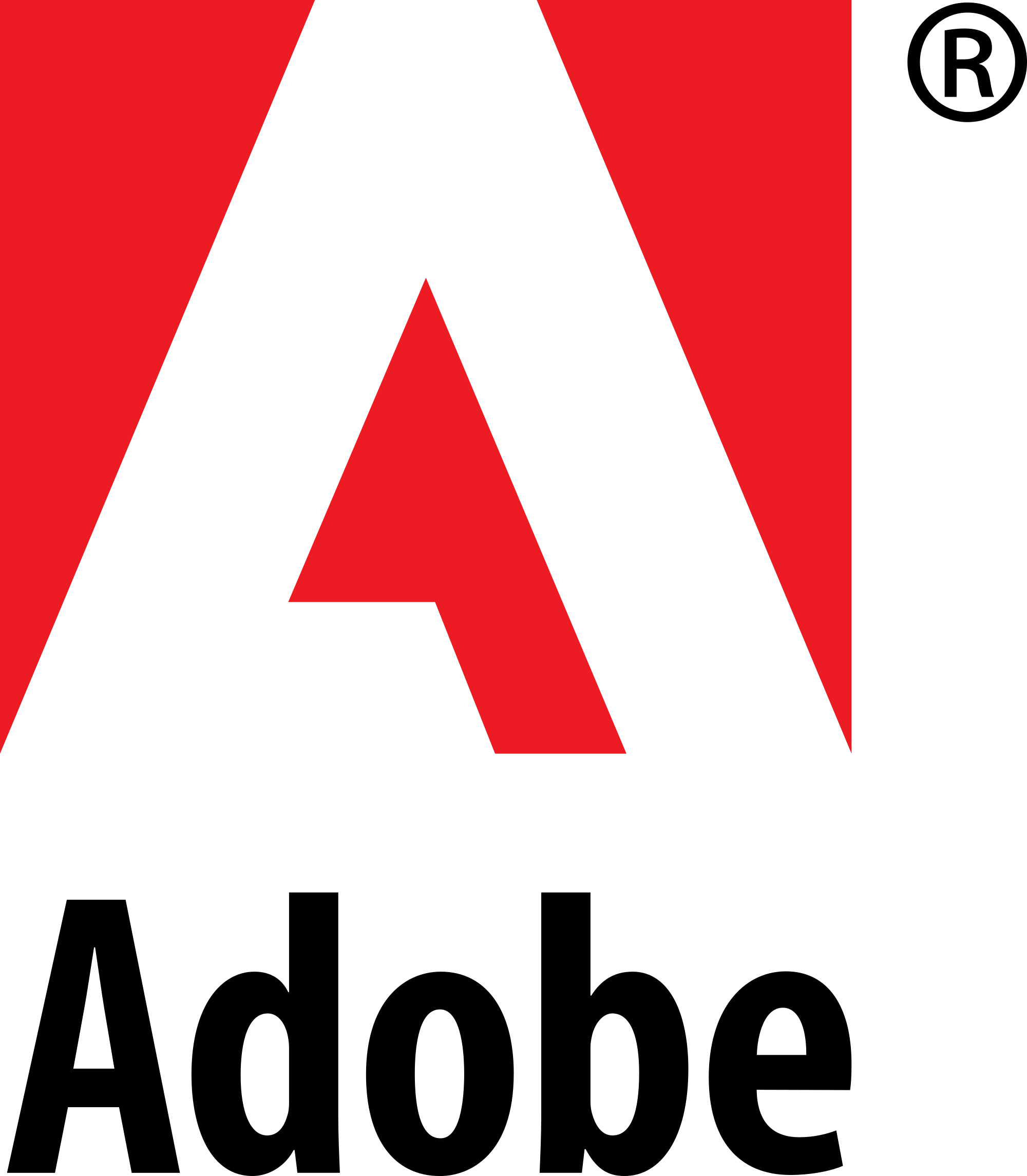 Adobe logo png. File systems and wordmark