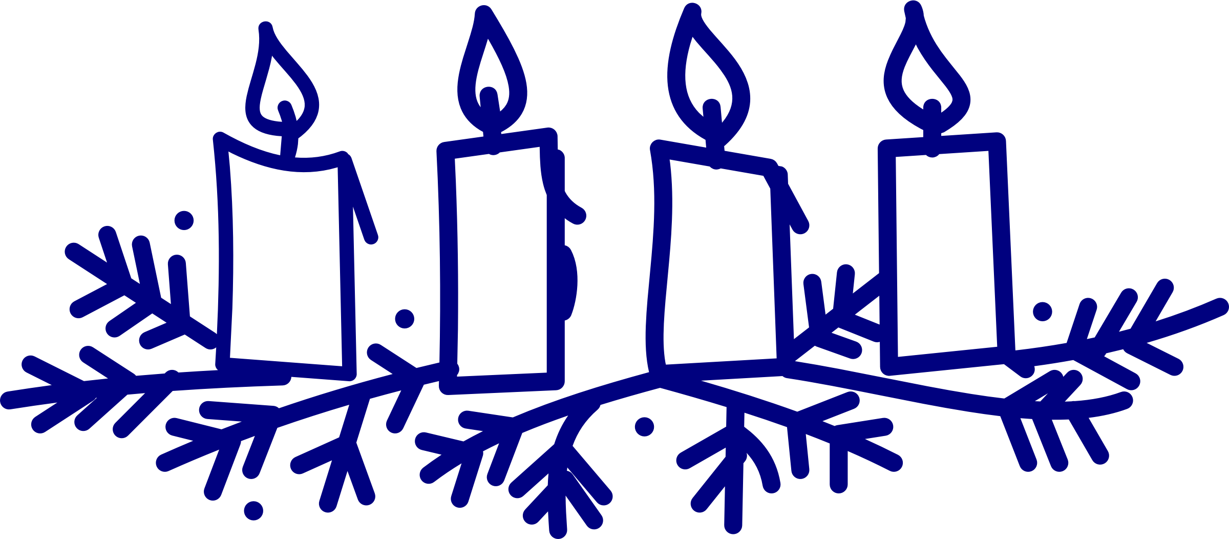 Advent wreath png. Candles icons free and