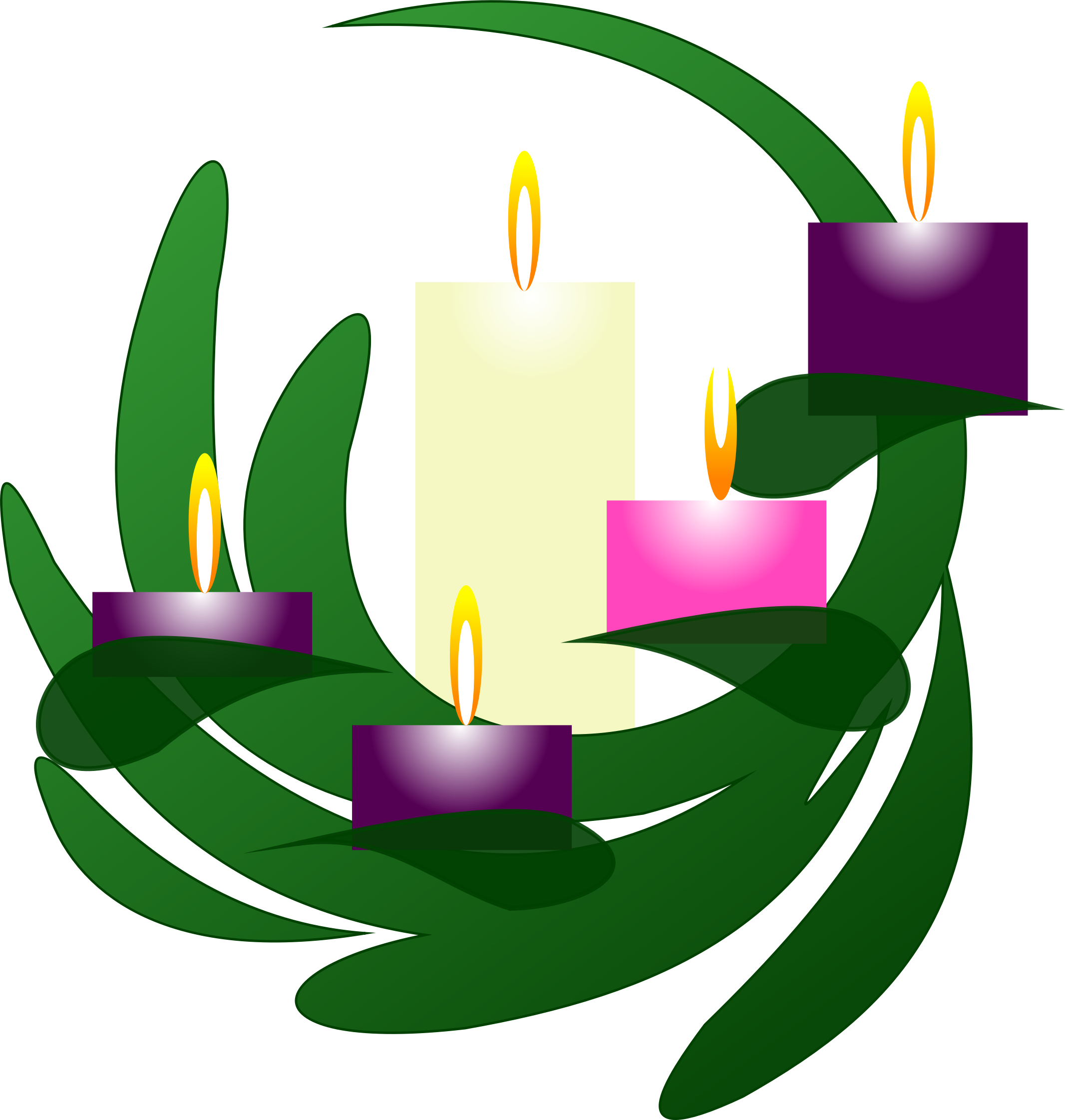 Advent wreath png. Christmas eve clipart at