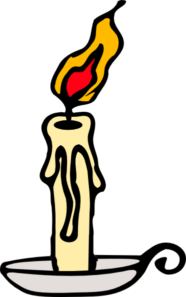 Candlestick drawing scary