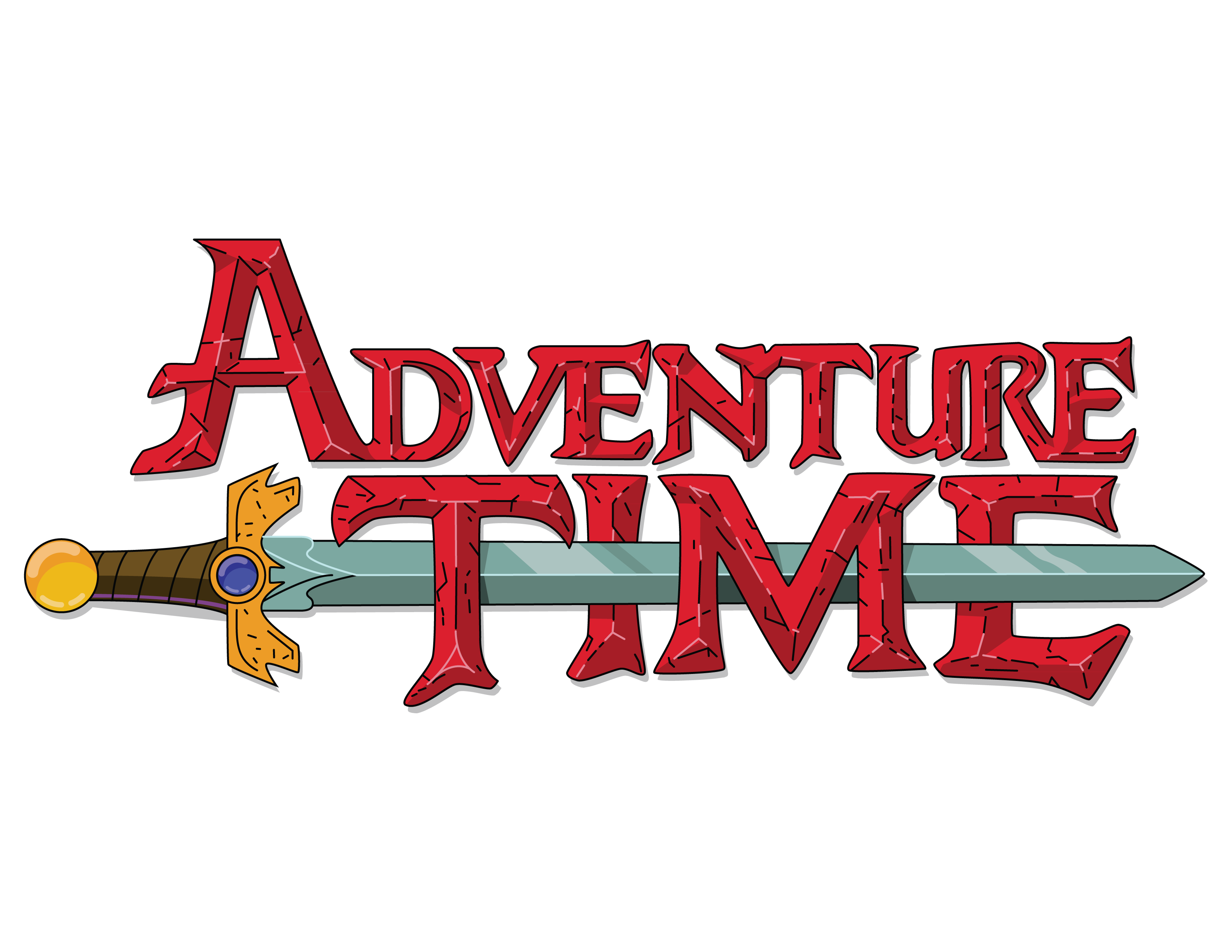 Adventure time logo png. Vectorized with way more