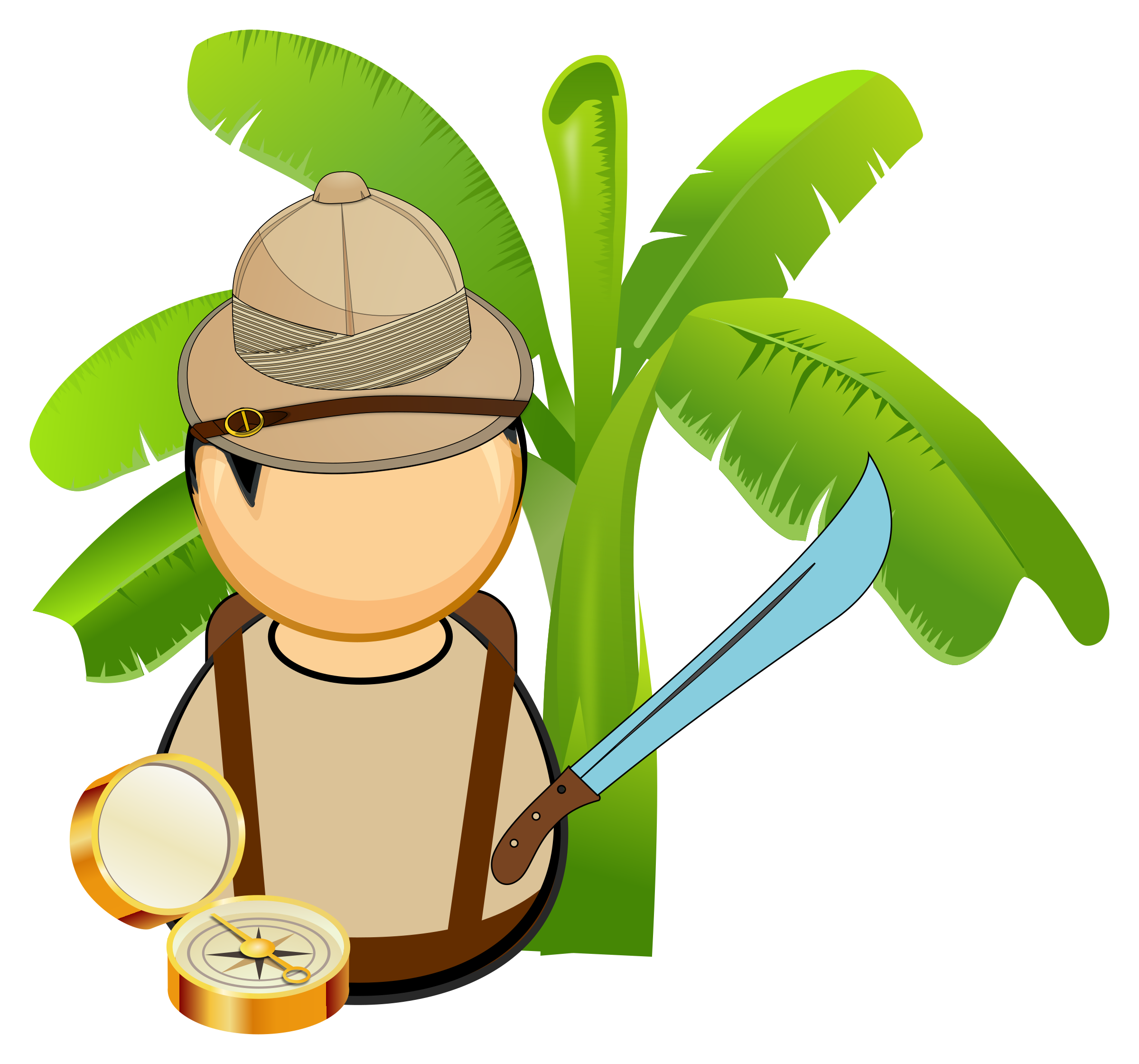 Adventurer drawing explorer. Jungle icons png free