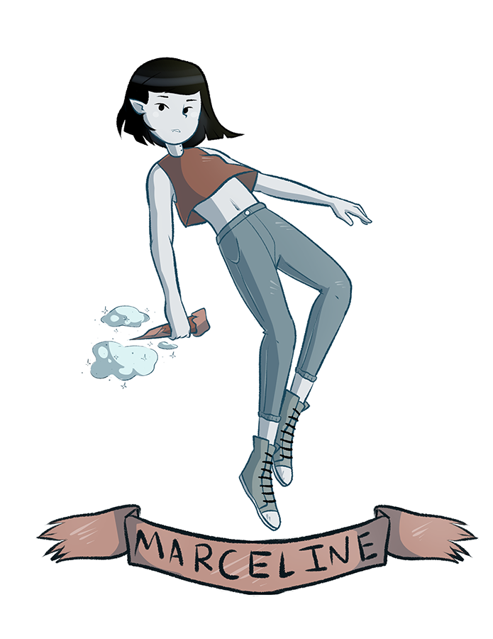 Adventurer drawing sketch. Marceline stakes by https