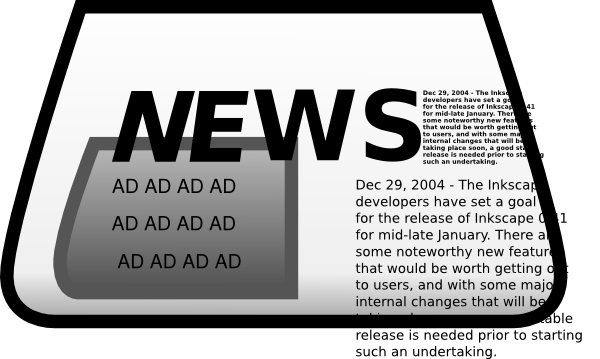 Newspaper advertisement . Advertising clipart png freeuse stock
