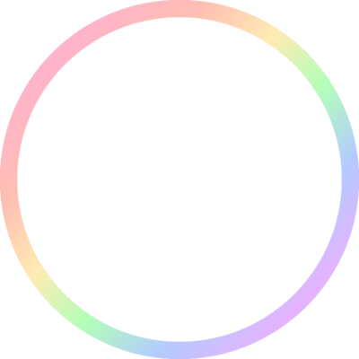 The transparent circle. Pastel pride support campaign