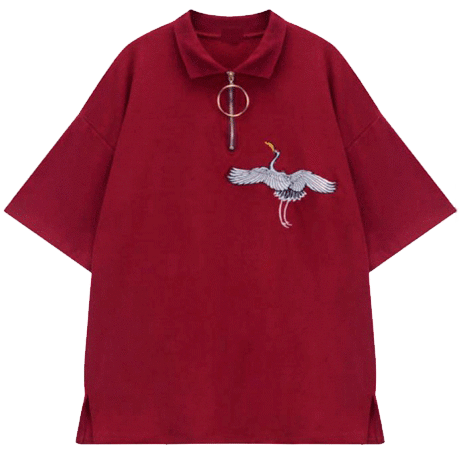 Aesthetic clothes png. Itgirl shop crane embroidery