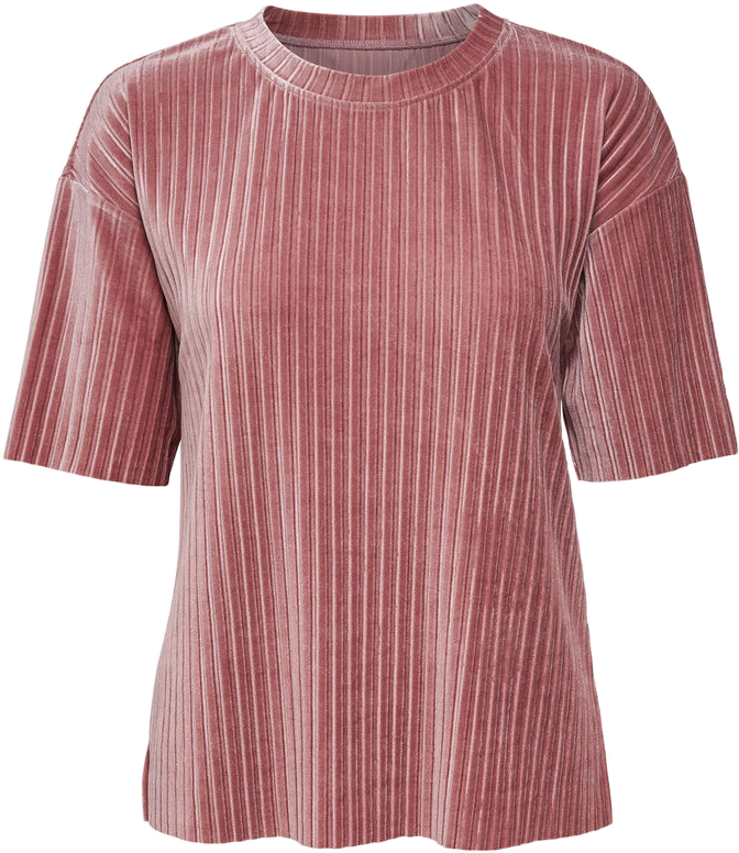 Aesthetic clothes png. Top tshirt velvet pink