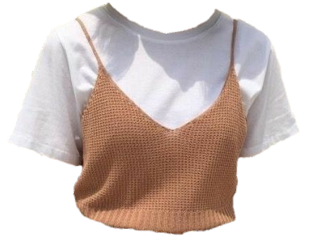 Aesthetic clothes png. Tshirt tumblr white beige